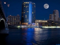 A photo of Full Moon over Grand Rapids