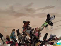A photo of Untitled (Shoe Tree)