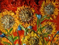 A photo of Sunflowers in Red